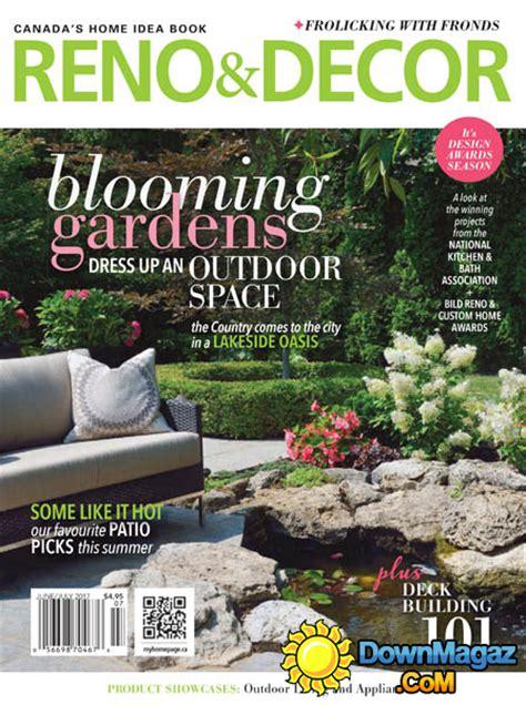 magazine reno decor june july 2016 canada read online reno decor 06 07 2017 187 download pdf magazines