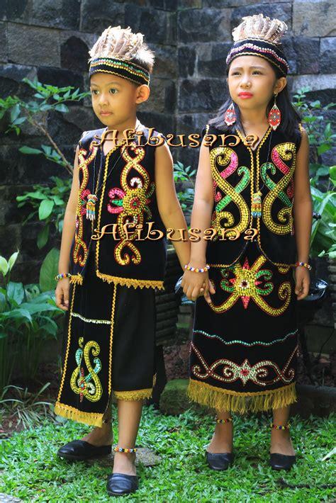 Baju Adat Papua Anak baju daerah provinsi kalimantan timur afibusana