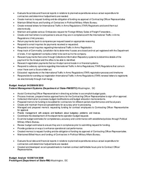 Program Analyst Resume by S Buget Financial Program Analyst Resume