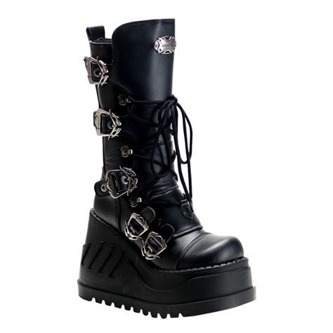 demonia swing 101 demonia stomp 101 wedge platform boots demonia