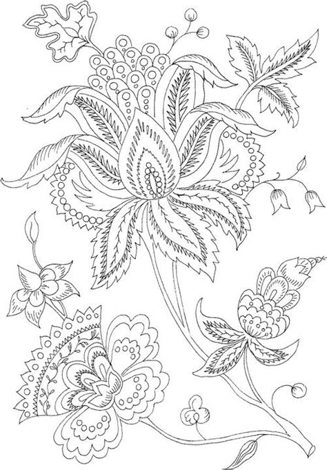 intricate floral coloring pages flower coloring page