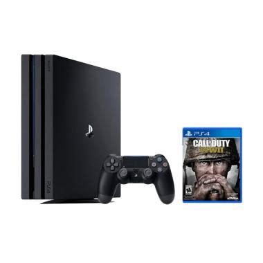 Ps4 Slim 1tb Jet Black Cuh 2006b Asia Reg3 Paket 2 Stick Ori Slim jual sony playstation 4 pro with call of duty wwii bundle pack console jet black 1 tb