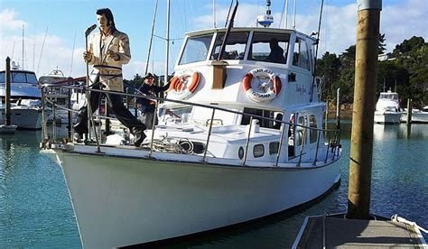 rock the boat elvis 2018 elvis entertains during fishing contest stuff co nz
