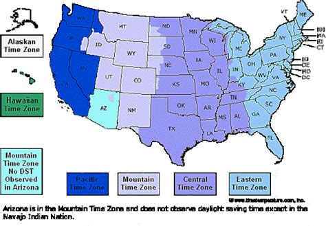map showing time zones in the usa usa state time zone map