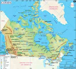 canada map canada located in america is the