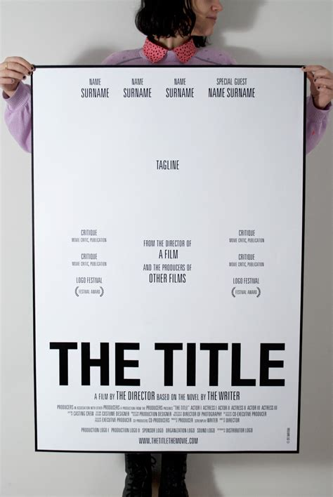 movie poster template quot the title quot movies