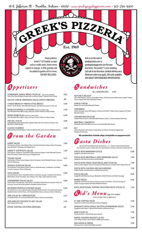 athenian room menu s pizzeria tapp room food menu s pizzeria tapp room