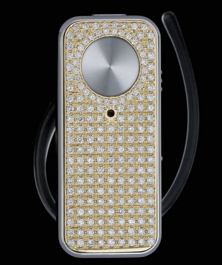 Motopure H12 Bluetooth Headset Gets Bling by Motopure H12 Headset Is Drenched With Diamonds
