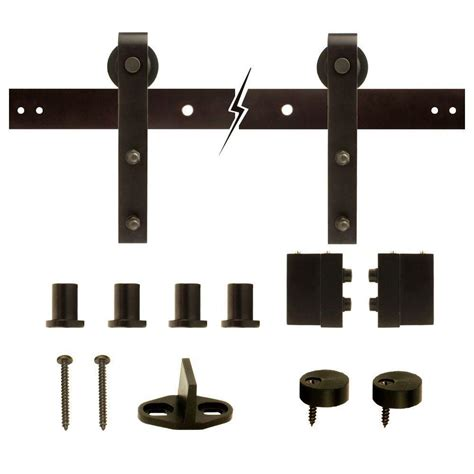 Decorative Barn Door Hinges Everbilt Rubbed Bronze Decorative Sliding Door Hardware 14445 The Home Depot