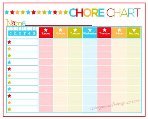 printable charts for toddlers family chore charts cake ideas and designs