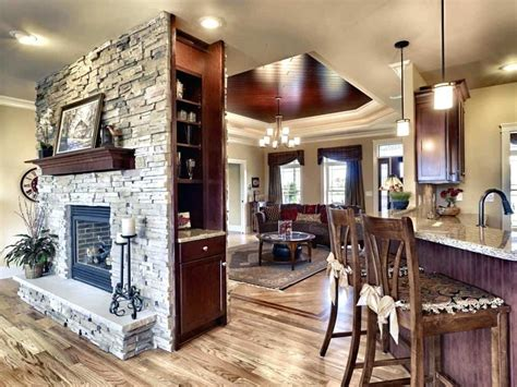 20 functional sided fireplaces for your spacious