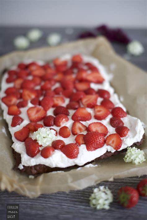 erdbeeren kuchen brownie kuchen mit erdbeeren beliebte rezepte f 252 r kuchen