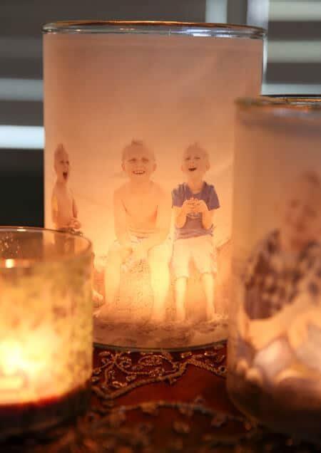 Le Mit Fotos Selber Machen by Wundervolle Geschenkidee Leuchtende Teelichtgl 228 Ser Mit