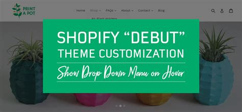 shopify themes with drop down menu shopify debut theme show drop down menu on hover mercy