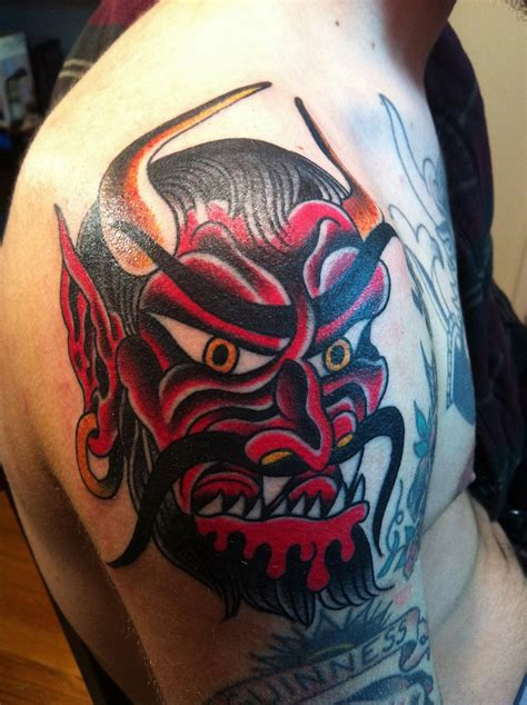 devil head tattoo designs black tribal by shadow696