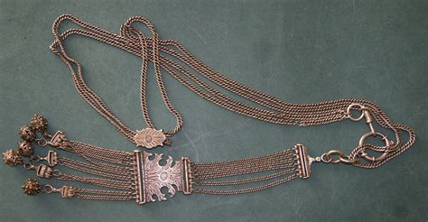 ottoman tughra ottoman silver fob chain with tughra complete 19thc for