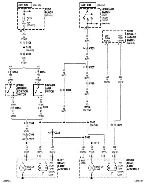 2001 Jeep Wrangler Wiring Diagram 2001 Tj Rear Wiring