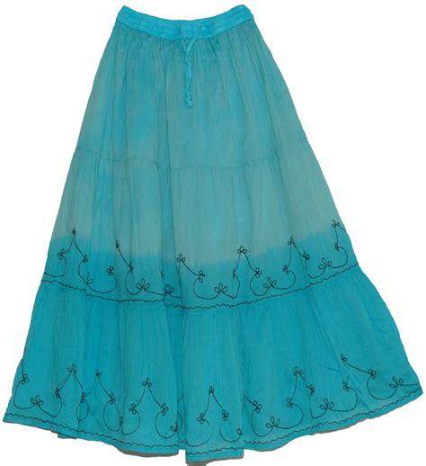 light blue long skirt light blue summer indian long skirt clothing sale on
