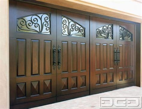 Garage Doors Orange County Ca by Mediterranean Style Garage Doors In Orange County Ca Solid Wood Construction And Heavy Duty