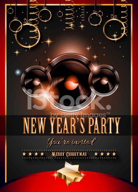new year flyer design 2015 new year s flyer design for nigh clubs stock