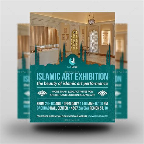 Islamic Art Exhibition Flyer Template By Owpictures Graphicriver Exhibition Flyer Template