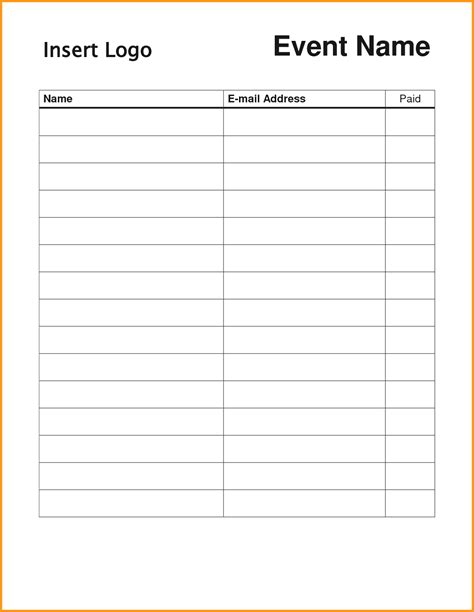 free sign up sheet template printable templates franklinfire co