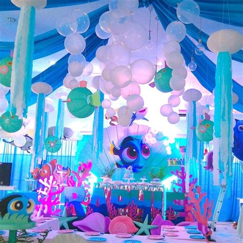 the sea theme decorations finding dory the sea birthday on kara s