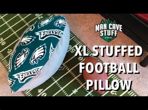 xl man cave football diy stuffed pillow idea youtube