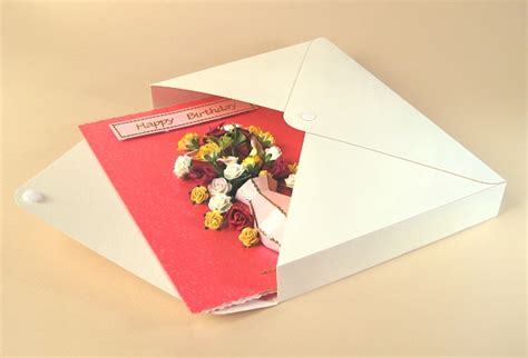 box greeting card template card templates for 3d vase greeting card