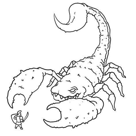 8 printable scorpion coloring sheet