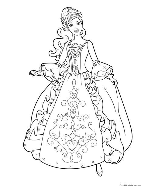 barbie coloring book printable - printable barbie princess coloring ...