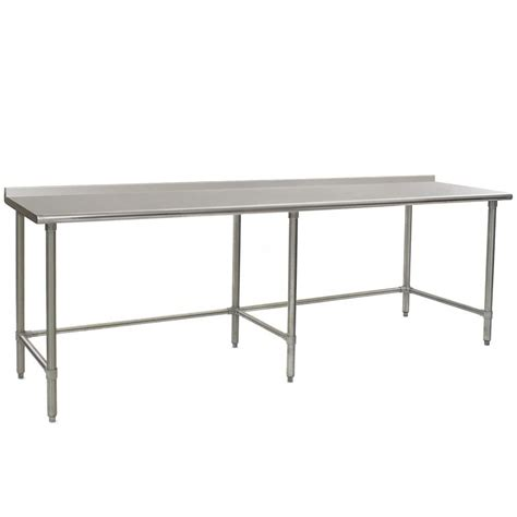 eagle stainless steel table eagle ut3096gte 30 quot x 96 quot open base stainless steel