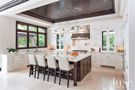 transitional mahogany white kitchen luxe interiors