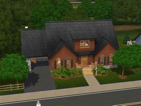 Walk Out Ranch House Plans family homes up to 75 000 for sims 3 at my sim realty