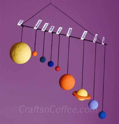 easy solar system crafts for how to make a solar system mobile tutorial on