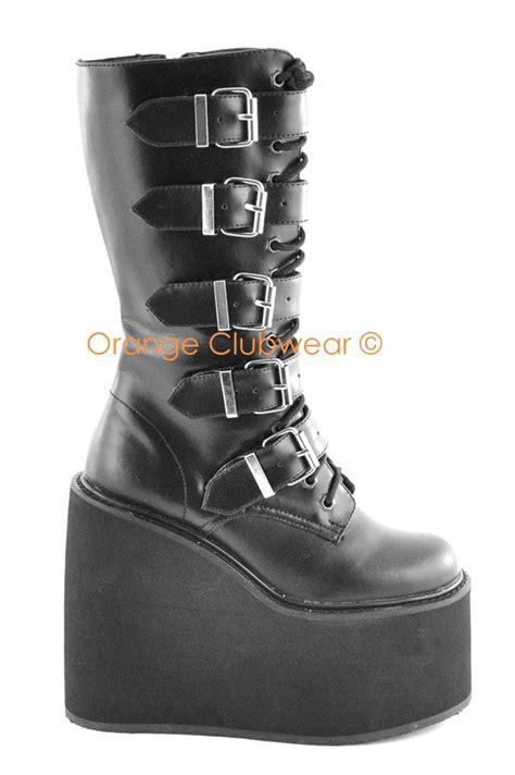 demonia swing 220 demonia swing 220 punk gothic women s boots shoes ebay