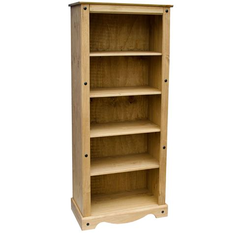 discount solid wood bookcases corona bookcase large display unit solid pine