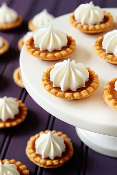 mini recipes mini pumpkin pies recipe dishmaps
