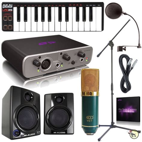 fast track pro tools express home recording studio