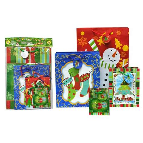 value christmas presents wholesale assorted gift bag value pack 10 pack glw