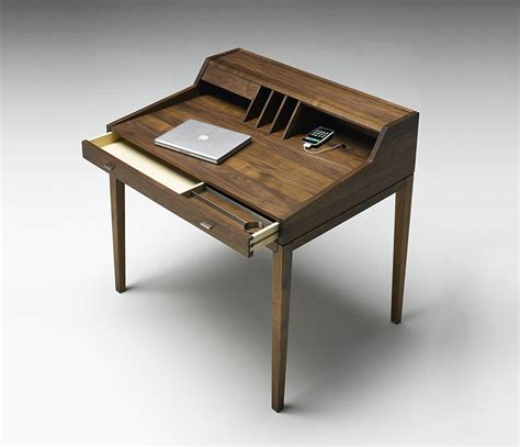 secr騁aire bureau luxury modern bureau secretaire in solid wood wharfside