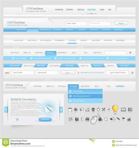 web design icon navigation website design navigation template elements with icons set