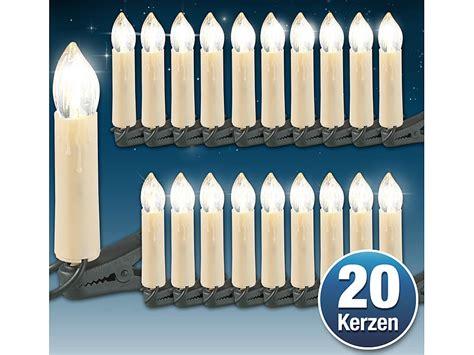 led weihnachtsbaum lichterkette mit 20 led kerzen ip20 von