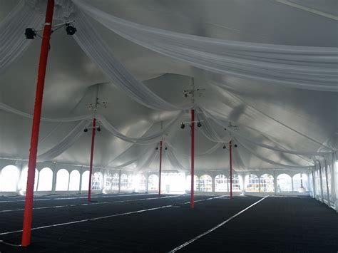 X Pole Ceiling Damage by Indoor Venue Design Special Events