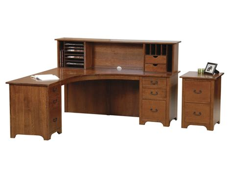 liberty corner desk with open hutch herron s amish furniture