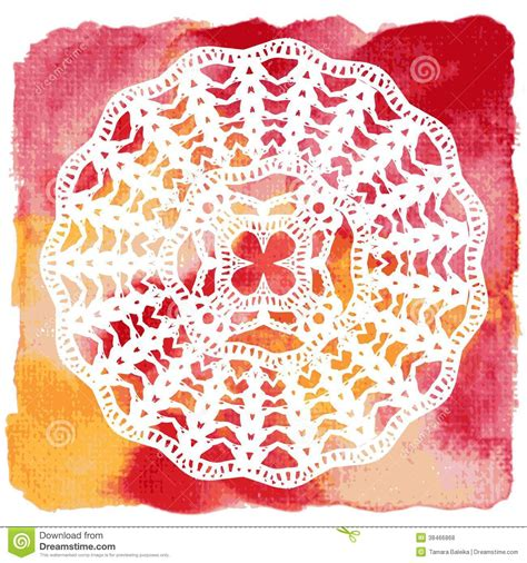 crochet chair card template lacy doily crochet mandala royalty free stock