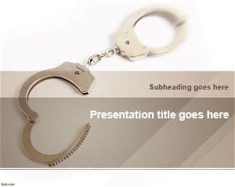 handcuffs powerpoint template ppt template