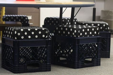 Milk Crate Furniture by I Made New Quot Milk Crate Quot Chairs For Reading Table