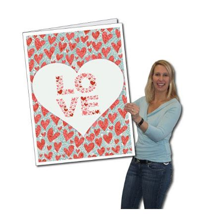 big valentines walmart 2 x 3 s day card you always w