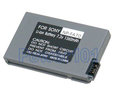 Charger Fb Sony Np Fa70 power101 special 8 21 np fa70 battery for sony li